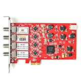 TBS 6904 Pci Express Dvb S2 Quad Tuner Digital Satellite Tv Card For Window/ Linux/ Htpc/Iptv Streaming Server