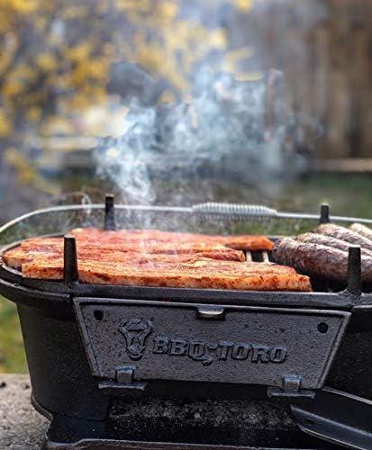 BBQ-Toro - Barbecue en fonte avec grille de cuisson - 50 x 25 x 23 cm - Grill de camping au charbon de bois style Hibachi