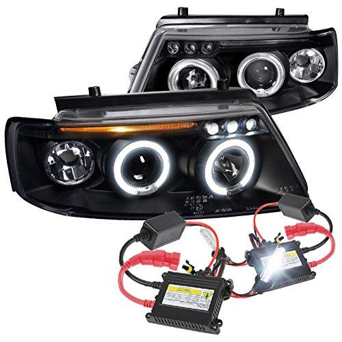 97 00 Passat Black Projector Headlights