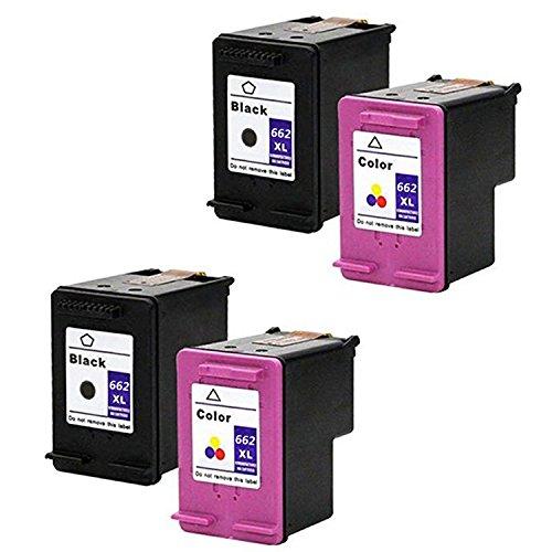 LOVEINK 4 Pack Remanufactured Ink Cartridge For HP 662XL Deskjet Ink Advantage 3515 3545 4645 ()