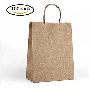 Amazon.com: COSCO Premium Small Brown Paper Shopping Bag, 50/Box ...