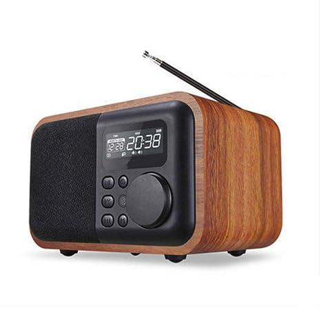 Amazon.com: Altavoz Bluetooth estilo retro clásico con radio ...