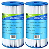 5 Micron 10' x 4.5' Whole House Big Blue Pleated Sediment Water Filter Replacement Cartridge Compatible with DuPont WFHD13001, GE FXHSC, Culligan R50-BBSA, Pentek R50-BB, W50PEHD, GXWH40L, 2-Pack