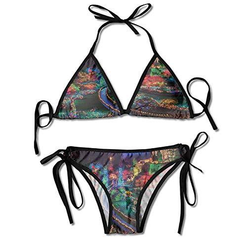 Custom Swimsuit Women Two Piece View at Buchart Gardens Celebrations Printing