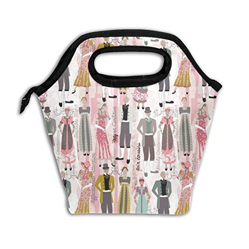 Pride And Prejudice_992 Lunch Bag Insulated Lunch Box Reusable Lunch Tote Cooler Organizer Bag Lunch Bags for Women,Men and Kids Adults