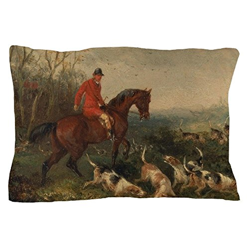 CafePress William Shayer Foxhunting at Cover Standard Size Pillow Case, 20
