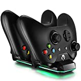 Xbox One / Xbox One S Dual Charging Dock Charger Station with 2 Rechargeable 300 mAh Batteries and USB Cable For Xbox One Wireless Controller (Video Game)