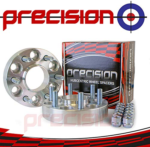 1 Pair of 30mm Bolt-On Wheel Spacers with Studs for Ǹissan Pathfinder (R51) Part No. 2PHS16115 Precision