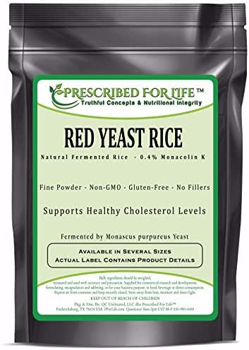 Red Yeast Rice - 0.4% Standardized Extract Powder (Monascus purpureus), 12 oz
