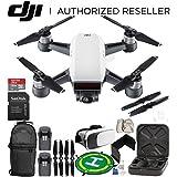 DJI Spark Portable Mini Drone Quadcopter (Alpine White) + EVERYTHING YOU NEED Essential Bundle