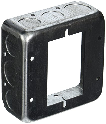 Hubbell 187 Raco Drawn Extension Ring, 22.5 Cu-In, 4 In L X 4 In W X 1-1/2 In D, 4