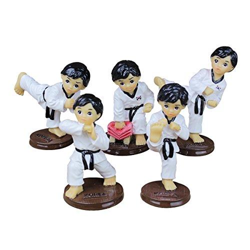 Birthday Cake Topper Resin figurines Birthday Gifts Taekwond