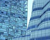 New York Architecture Photography, Modern Architecture Print, Blue New York City Glass Building and Windows, Abstract Wall Art, Upper West Side Manhattan