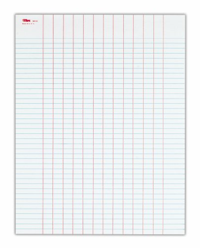 Top Form Data (TOPS Data Pad, 8.5 x 11 Inch, 13-Columns, Heavy Weight, 50 Sheets per Pad, 10 Pack, White (3616))