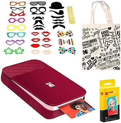KODAK Smile Impresora Digital instantánea (Rojo) Paquete de ...