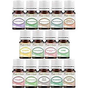 Essential Oil Set 14 5 ml Therapeutic Grade 100% Pure Frankincense, Lavender, Peppermint, Rosemary, Orange, Tea Tree, Eucalyptus, Grapefruit, Lemon, Lime, Clove, Spearmint, Lemongrass, Cinnamon