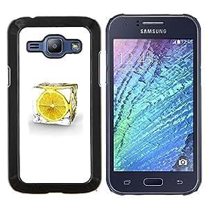LECELL--Funda protectora / Cubierta / Piel For Samsung Galaxy J1 J100 -- LEMON ICE CUBE --