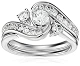 10k White Gold Round Diamond Bridal Ring (1cttw,H-I Color, I2 Clarity)