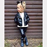 GLIGLITTR Toddler Baby Boy Girl Motorcycle Faux