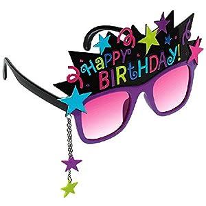 "Amscan Stylish Birthday Party Birthday Chic Funshades Accessory, Plastic, 6"" x 4"""