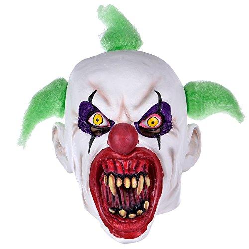 Hophen Halloween Clown Mask Adults Horror Latex Creepy Masquerade Costume Party Props Masks