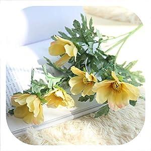 Memoirs- 10PCS Artificial Flowers Rose for Wedding Fake Silk Flower for Wedding Room Garden Home Hotel Decoration Plant,4 4