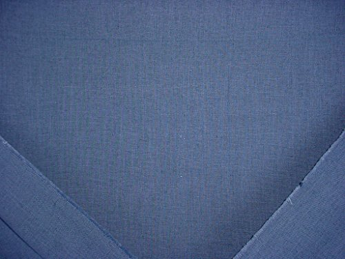 87RT19 - Versatile Lagoon Blue Faux Grasscloth Textured Linen Weave Designer Upholstery Drapery Wallcovering Fabric - By the Yard -