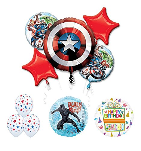The Ultimate Avengers Black Panther Birthday Party Supplies and Balloon -