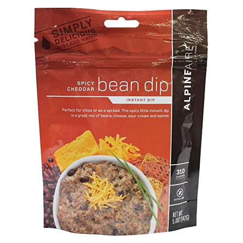 Instant Cheddar - AlpineAire Foods 30127 Spicy Cheddar Bean Dip Instant Dips