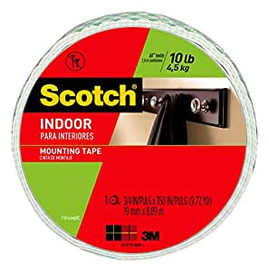 Scotch Indoor Mounting Tape, 0.75-inch x 350-inches, White, 1-Roll (110-LongDC)