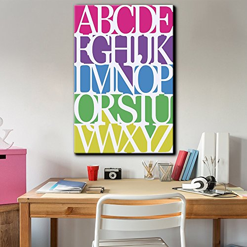 A to Z Vibrant Alphabet Art Wall Letters