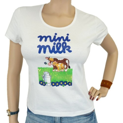 Logoshirt – Mini Milk Girlie camiseta, blanco, mujer, LOGOSHIRT - MINI MILK Girlie Shirt, Größe XS, blanco, extra-small