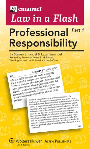 Emanuel Law in a Flash: Professional Responsibility (2-Part Set) by Aspen Publishers