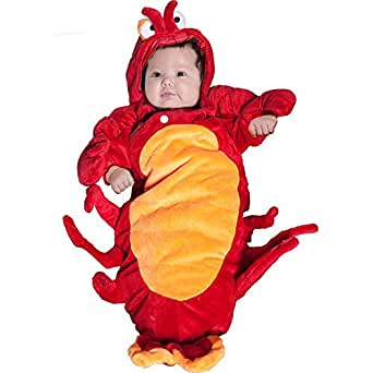 Lobster Bunting Infant Costume, 0-6 Months, Orange