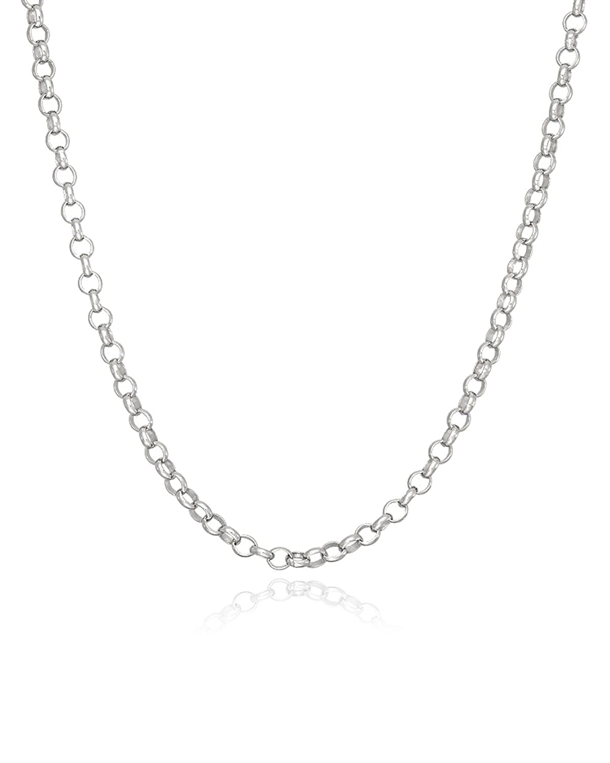 16 20 24 FashionJunkie4Life Sterling Silver 2.1mm Rolo or Rollo Link Chain Necklace 18