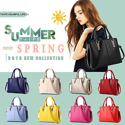 Tote Black For Satchel Handbags Tcife Shoulder And Purses Bags Women x0Pwqv