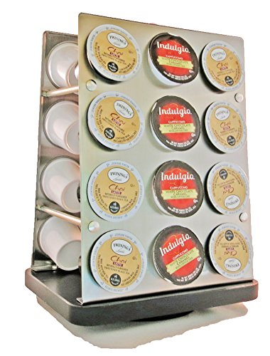 Palais Dinnerware K-cup Modern Revolving Carousel Tower for Keurig K-cup Coffee Pods - Holds 24 Cups by Palais Dinnerware