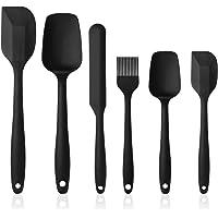 Vicloon Utensilios de Cocina de Silicona,Set de 6 Espátulas Silicona Incluye Hilvanado Cepillo, Espátula,Cuchara, No…