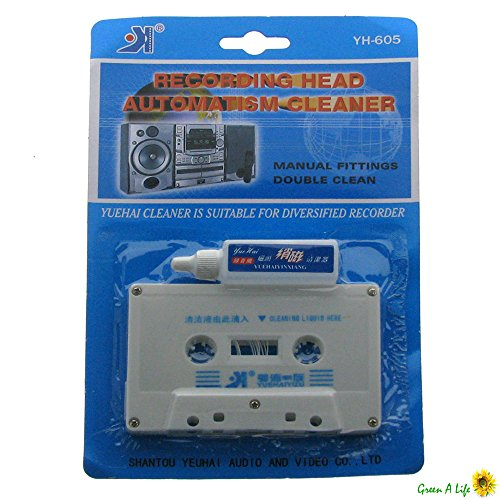 Audio Tape Cassette Head Cleaner Kit Wet Solution Maintenance Cleaning ()