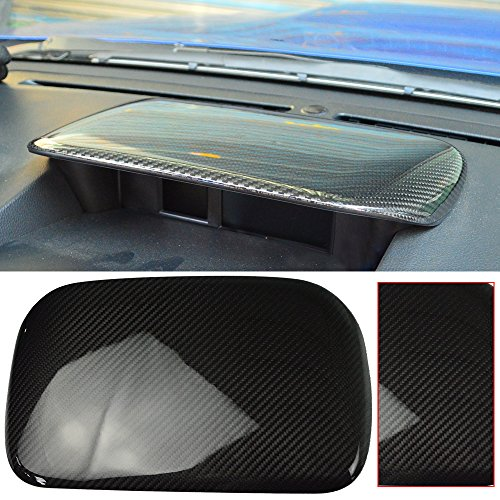 Hood Cover Fits 2015-2018 Subaru WRX STI | OE Style Carbon Fiber Center Top Dash Panel Console Hood Cover Other Color Available By IKON MOTORSPORTS | 2016 2017 (Oem Sti Hood Carbon Fiber)