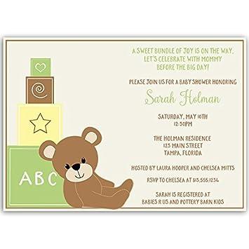 Amazon baby shower invitations teddy bear baby gender baby shower invitations teddy bear baby gender neutral yellow green filmwisefo