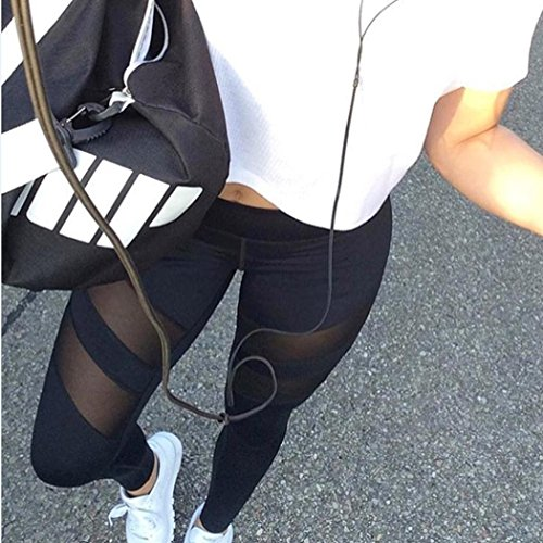 Shensee High Waist Leggings Fitness Yoga Athlete Panty Printed Stretch Cropped Pants