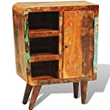 SKB Family Reclaimed Wood Cabinet with One Door Vintage Antique-style