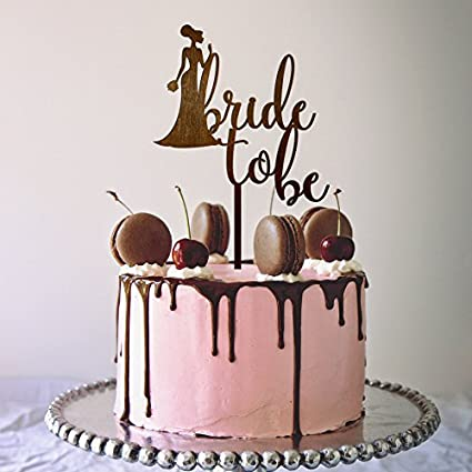 Buy Joyglobal Silhouette With Bride To Be Acrylic Cake Topper