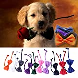 Chinatera 10PCS New Lovely Cute Bow Tie For Dog Cat Pet Necktie Neck Collar