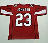 Chris Johnson Signed Arizona Cardinals Red Men's Custom Autographed Football Jersey Men's Size 48 NFL