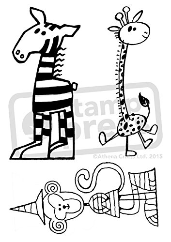 Amazon Com Azeeda A6 Cartoon Exotic Animals Unmounted Rubber