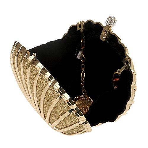 Femmes Mode Sac Petit Shell Sacs Sac Jour Sacs Main KYS en Alliage Soirée Diamant De De Pochettes De Sacs Mariage Mariage gold Cristal Populaire à dqFOxw7X5