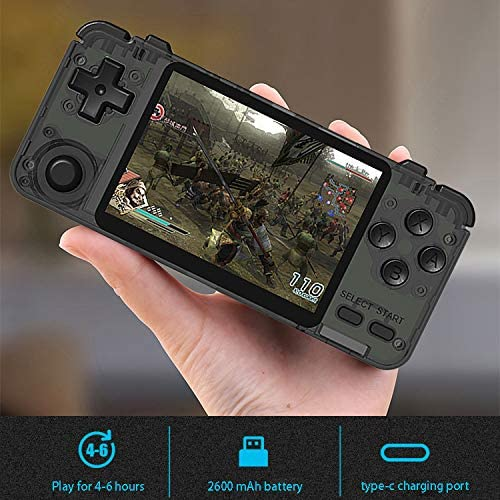 Noblik Rk2020 3.5Inch Retro Console IPS Screen Portable Handheld Game Console PS1 N64 Games Video Game Player