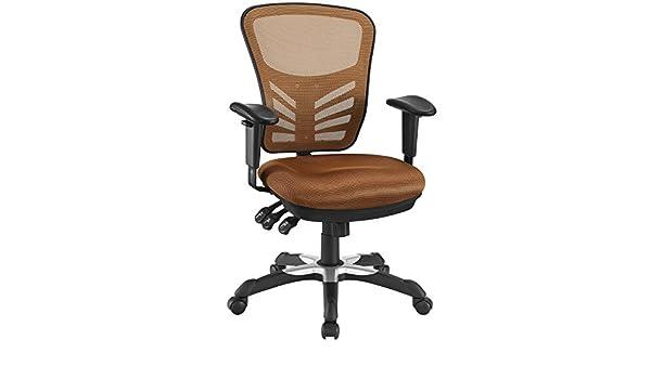 Modway - Silla de Oficina de Malla articulada, Color marrón ...